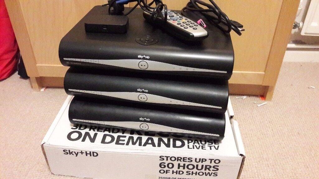 3 x Sky+ HD Box DRX-890 + extras