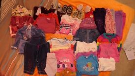 Baby girl 6-9 & 9-12 m bundle of clothes