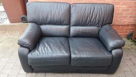 Two (2) Seat Leather Sofa - £40 ono