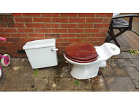 Barrhead Toilet and Cistern - top of the range quality sanitary wear plus Victorian handle