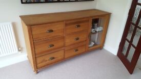 Sideboard cupboard - solid wood storage - Next