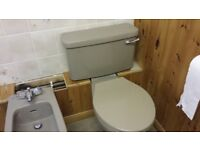 Kashmir Beige Ideal Standard Tiara Coroline toilet.