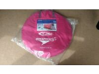 BRAND NEW, NEVER USED; 2 man pop up pink tent