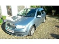 Skoda Fabia,withMOT until April 2017 and a good service history.