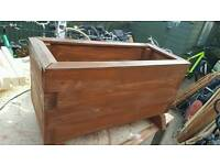 Solid timber planter