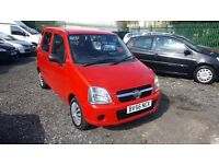 2006 VAUXHALL AGILA 1.0 5 DOOR IN RED WITH JUST 78,000 MILES FROM NEW AND 10 MONTHS M.O.T