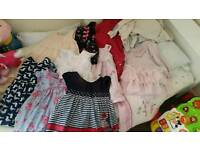 9 - 12 months baby girls dresses tops trousers etc