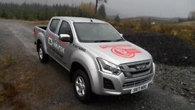 Isuzu D-Max Eiger double cab with work pack A - Our Demo vehicle with low mileage £18,995 + v.a.t;