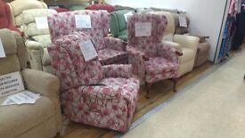 Ex-Display HSL 3 piece suite (Dual Motor Riser Recliner, Comfort Sofa & Chair), Free Delivery