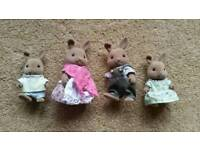 Sylvanian Families Rare Dappledawn Fawn Rabbit Family in Excellent Condition