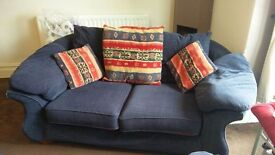 Dark blue comfortable sofa