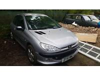 Peugeot 206 quiksilver 1.4 spares or repair starts snd drives