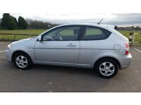Silver 2008 Hyundai Accent Atlantic (Special Ed) 1.4 Hatch-back – 49k Genuine Miles, FSH