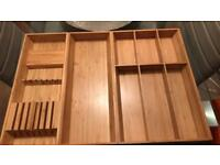 Ikea bamboo inserts for drawers, cutlery, accessories etc
