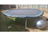 12ft trampoline used daily