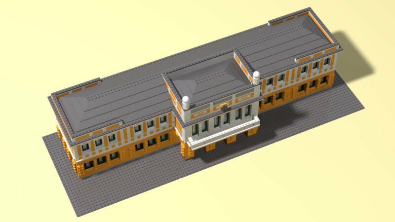 Main building of Lego Factory PDF//LDD//HTML Hungary building instruction