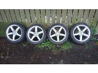 Audi A4, A6, A8 set of Alloys wheels 18 inch with good tyres