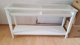 White Ikea Liatorp Console Table