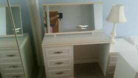 Vintage white dressing table with mirror £35
