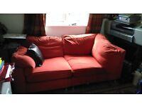 Corner sofa with matching foot stool