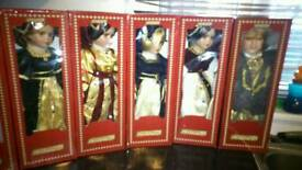 Henry 8th porcelin doll collection 7 of 7 all boxed unopened
