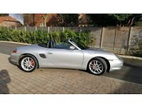 PORSCHE BOXSTER S IN SILVER LOW MILEAGE . 1 OWNER .