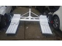 Car towing dolly trailer