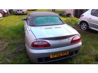 MGTF sports convertible. Spares or repair