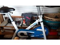 Body Max spinning bike, clock needs attention otherwise excellent condition