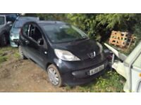 breaking peugeot 107 auto black all parts available