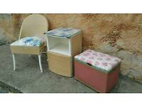"""Vintage """"Blind-Craft"""" bedroom / conservatory / lounge wicker."""