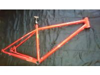 "Genesis Latitude Reynolds 853 steel mountain bike 17.5"" frame for 26"" wheels cotic orange stanton"