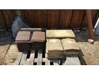 Marley Concrete Interlocking Tile 142 - Ashmore Duo Plain Tile - Smooth Brown
