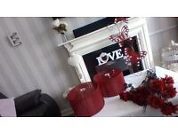 Beautiful red home set (joblot)