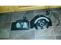Xbox steering wheel and pedals