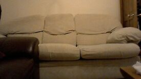 Sofa cream colour covers. covers can be washed in machine. FREE