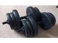 Pair of 10kg Dumbells
