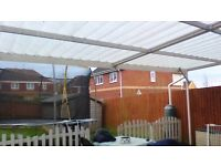 A strong robust carport. The width is 6.2m x depth of 4.3m x height 2.4m.