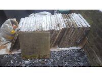Used paving slabs x 28
