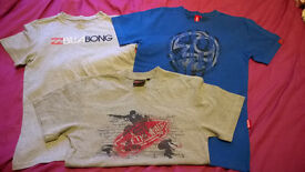 3 boys surf t-shirts aged 12