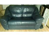 2 seater leather