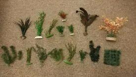 Collection of Aquarium Fish Tank Plastic Plants