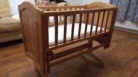 Mothercare Deluxe Gliding Crib / Cot - Pristine condition