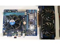 Gigabyte h61m-s1 + i3-2130 3.4 Ghz 1155 + gtx 560se 1gb