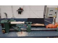 Electric table saw and wood turning lathe for sale. Used condition but still plenty of life left