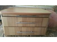 Caravan front unit draws and pull out table