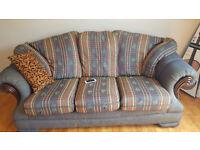 FREE - Fabric 3Seater Sofa & 2 Arm Chair - FREE