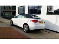 2009 Audi A3 Cabriolet 1.6 TDI Cabriolet 2dr £30 Tax in White - FREE 12 MONTHS WARRANTY