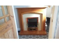 Electric fire with surround. Good working order as only ever used for decoration. 40.00 o.no.