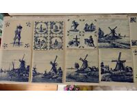 Tiles antique Delft hand painted